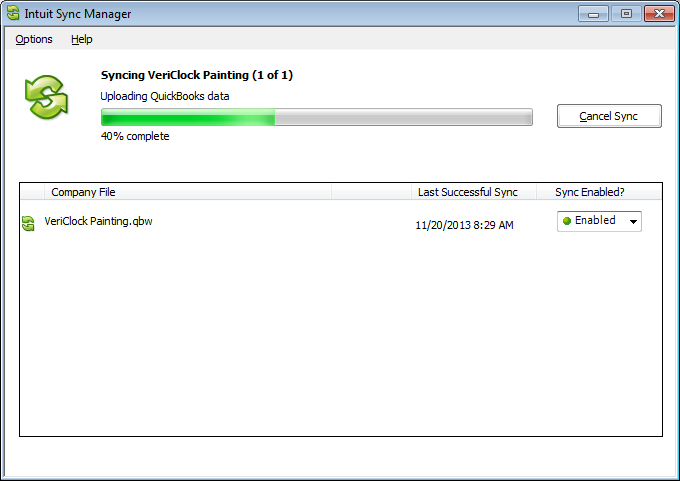 what does quickbooks sync manager do